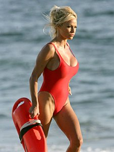 Pam Anderson in Famous Red Baywatch Swimsuit